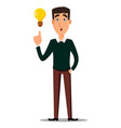 young handsome businessman in smart casual vector image vector image