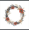 flower wreath isolated on white background vector image