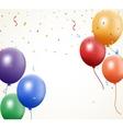 Birthday balloon with confetti vector image