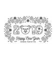 2019 happy new year greeting card christmas card vector image vector image