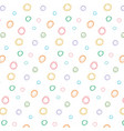 abstract colorful polka dot pattern vector image
