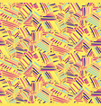abstract yelow pattern with hand drawn strokes vector image vector image