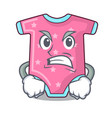 angry cartoon baby clothes for the newborn vector image vector image