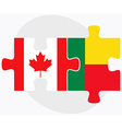 Canada and Benin Flags vector image