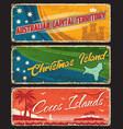 capital territory christmas and cocos islands vector image vector image