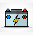 car battery icon design vector image vector image