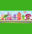 cartoon houses in bright vector image