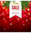 Chrismas sale banner on bokeh background vector image vector image