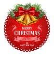 Christmas emblem vector image vector image