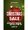 christmas sale design poster template vector image vector image