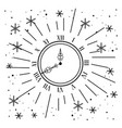 clock with stars decoration to new year vector image vector image