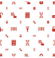 code icons pattern seamless white background vector image vector image