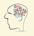 Cogs - Gears in Human Head vector image