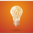 Concept vortex ideas in the form of light bulb vector image