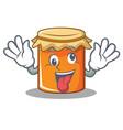 crazy jam mascot cartoon style vector image vector image