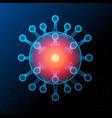 dangerous asian ncov corona virus sars pandemic vector image