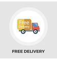 Delivery Car flat icon vector image vector image