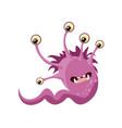 drawing a good monster childish slug gorgon vector image