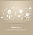 dreamcatcher icon on a brown background with vector image vector image