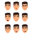 face expressions of a business man different male vector image vector image