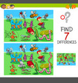 find differences game with insect animals vector image vector image
