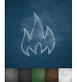 fire icon Hand drawn vector image