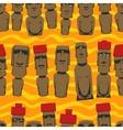 Flat style Cartoon Easter Island Rapa Nui seamless vector image
