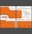 flyer template with orange design elements vector image vector image