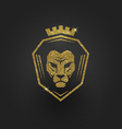 Glitter gold lion logo