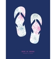 gray and pink lineart florals flip flops vector image