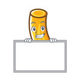 grinning with board tortiglioni pasta character vector image vector image