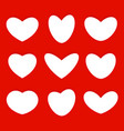 hearts shapes icons collection love symbols set vector image vector image