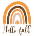 hello fall pumpkin vector image