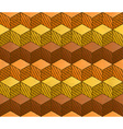 Honey themed cubes seamless pattern vector image