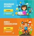 Internet online logo design template vector image vector image