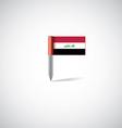 Iraq flag pin vector image