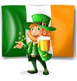 irish man drinking beer