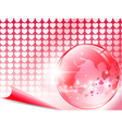love around world vector image