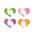 love girl logo icon design template vector image