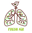 Lungs and nature - for the fresh air vector image