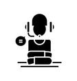 machanisation black icon concept vector image vector image