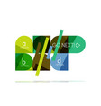 minimal flat clean abstract option step vector image vector image