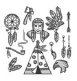 native american indians traditional culture vector image