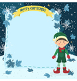 Notes Christmas Elf Boy with Jumpsuit vector image vector image