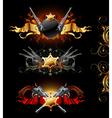 ornamental golden frames vector image vector image