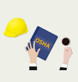 osha occupational safety and health vector image vector image