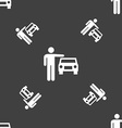 person up hailing a taxi icon sign Seamless vector image vector image