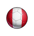 peruvian flag football - soccer ball vector image vector image