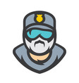 policeman sign vector image vector image