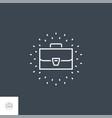 portfolio line icon vector image vector image